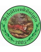 Ehrenscheiben mit grünem Hintergrund